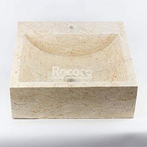 Lavabo Rococo Cuadrado de mármol Pulido 45x45 cm