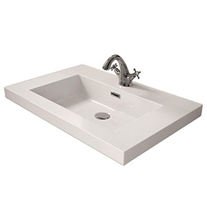 Lavabo carga mineral 60 cm Blanco Brillo