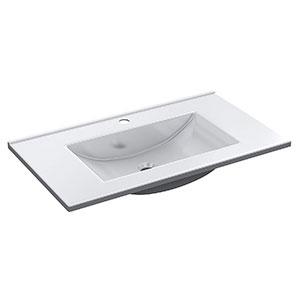 Lavabo de Resina Blanco 81,5x46x18 cm ARKITMOBEL