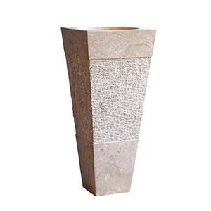 Lavabo de mármol texturado con Pedestal 40x40x90 cm Cemlux