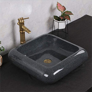 Lavabo sobre encimera de Cerámica Cuadrado 47x47 cm